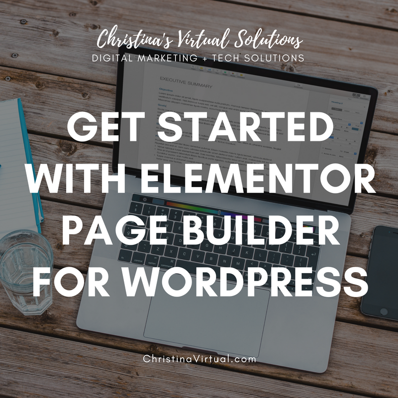 Elementor Page Builder For Wordpress | ChristinaVirtual.com